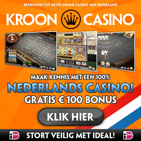 Ontvang nu 100% bonus bij KroonCasino!