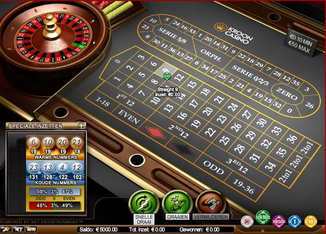 Online Roulette, Kroon Casino, Roulette, Netent