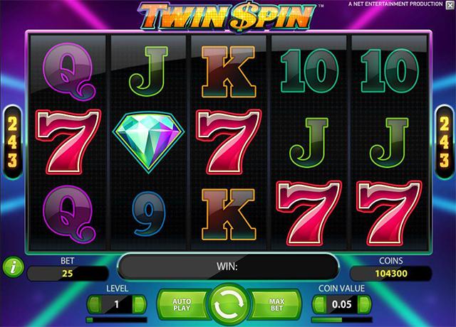 Speel videoslot Twin Spin gratis in het krooncasino